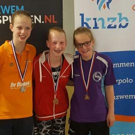 Myrthe Dorgelo wint brons bij Overijsselse A-Kampioenschappen
