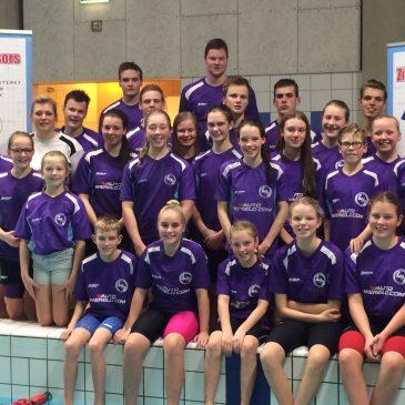 Zwemvereniging Zwartsluis zwemt competitie in Harlingen