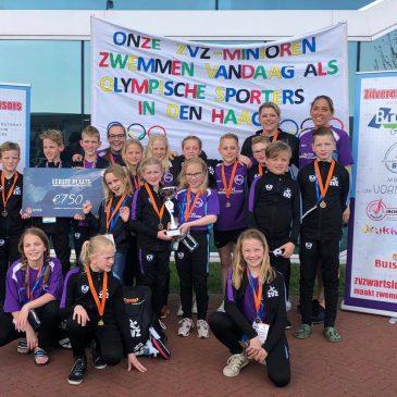ZvZwartsluis opnieuw de beste zwemclub van Nederland